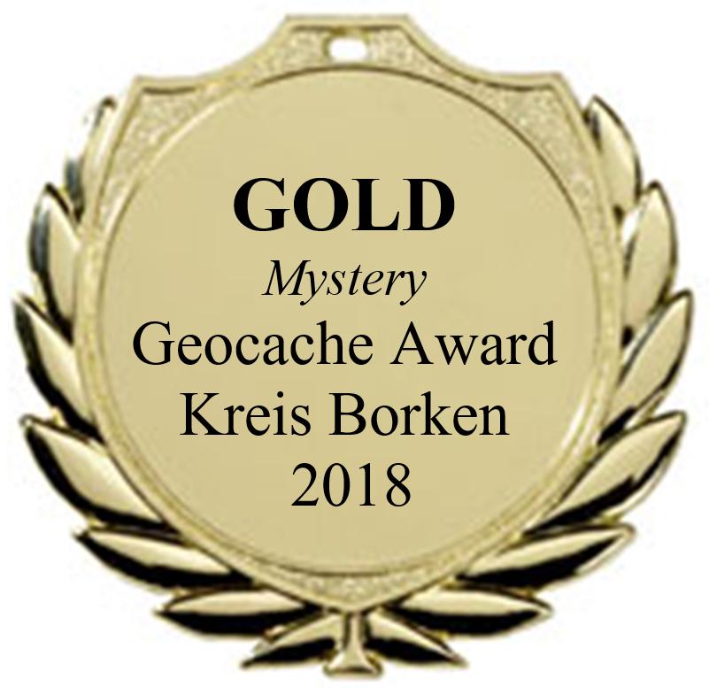 GOLD (Mystery) - Geocaching Award Kreis Borken 2018