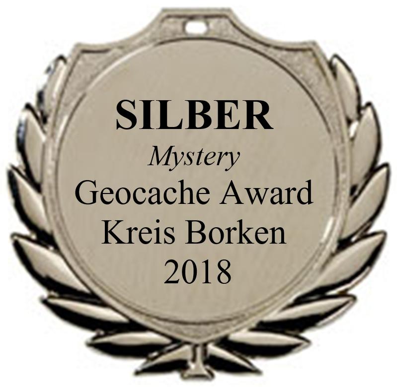 SILBER (Mystery) - Geocaching Award Kreis Borken 2018